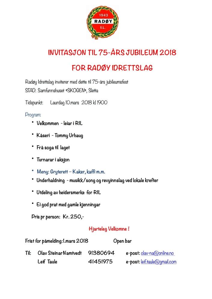 RIL - Invitasjon 75-ÅRS JUBILEUM 2018 med pris til alle.pages